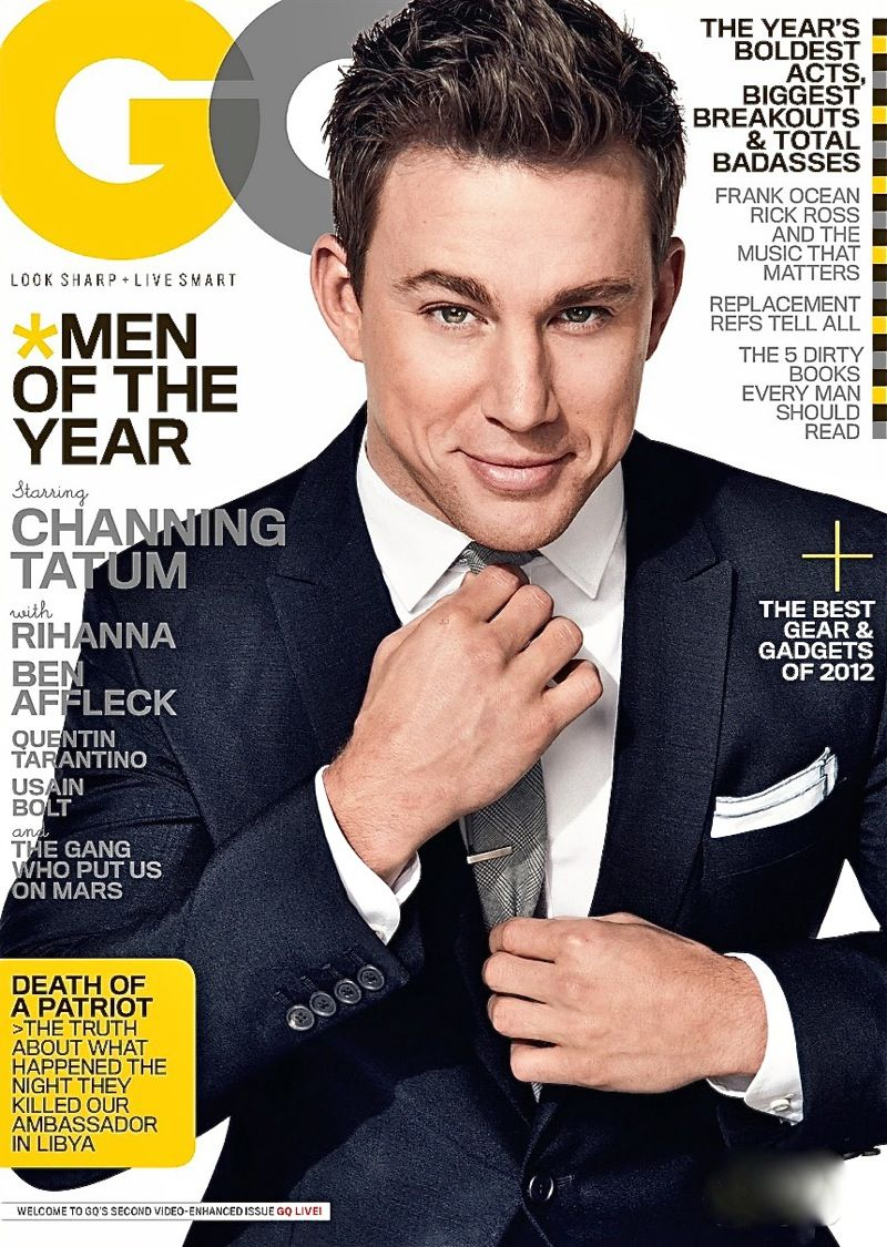 GQ Magazine cover with Channing Tatum
