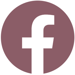 Facebook icon in mauve color